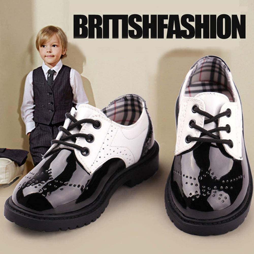 Lnafan Kids/' Boys/' Girls/' Lace Up Oxfords Shoes School Uniform Dress Shoes