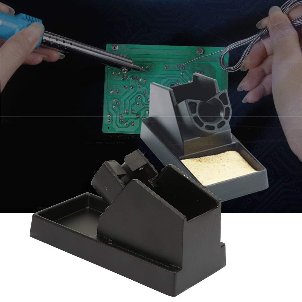 Delaman Aluminum Alloy Black Soldering Iron Station Holder And Support Of Great Heat Dissipation Soldering Iron Stand