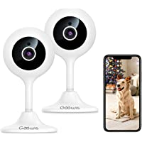 Goowls Security Camera Indoor, 2-Pack 1080p HD 2.4GHz WiFi Plug-in IP Camera for Home Security, Baby/Dog/Pet/Nanny…