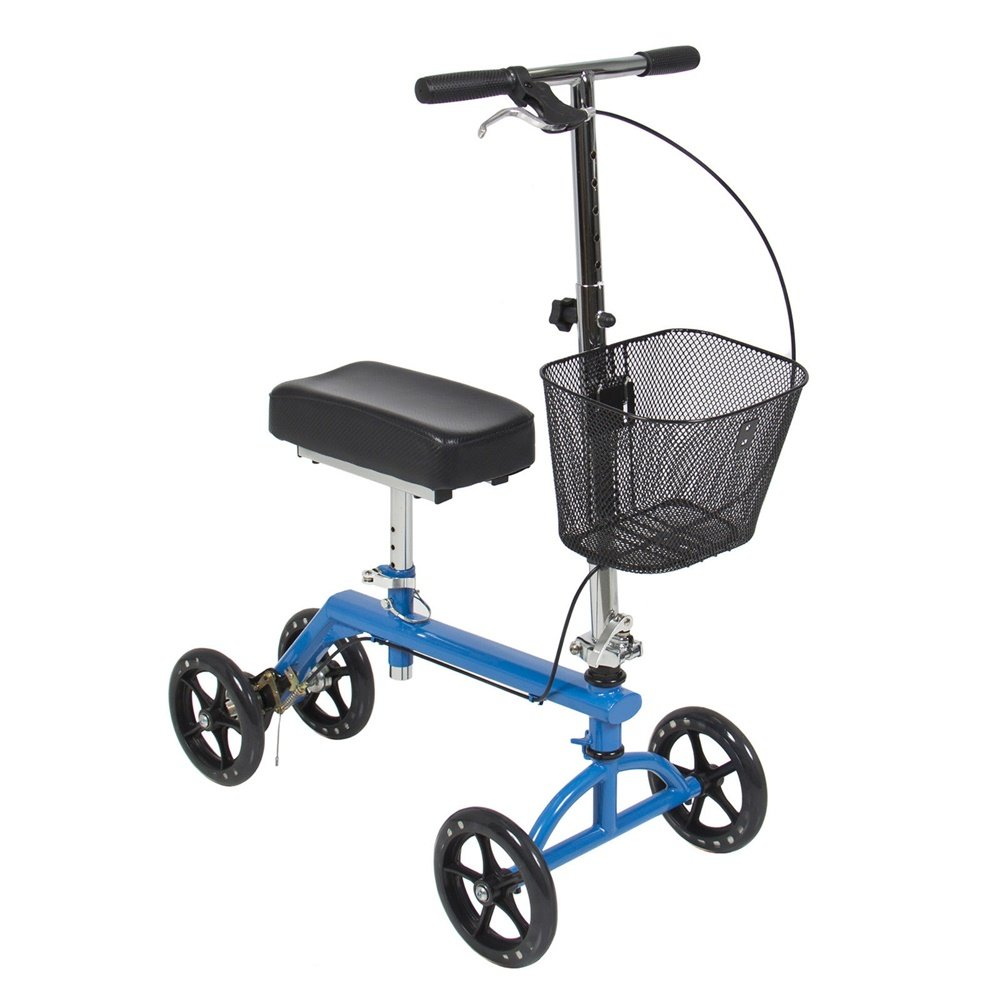 Angelwing Knee Walker Scooter Leg Crutch Steerable Turning Folding With Basket by Angelwing