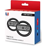 Switch Steering Wheel for Mario Kart 8 Deluxe, GH Racing Wheel Accessories Compatible with Nintendo Switch/Switch OLED Joy Co