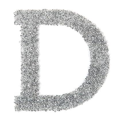 Paquete de 1 letra D de cristal de Swarovski, autoadhesivo ...