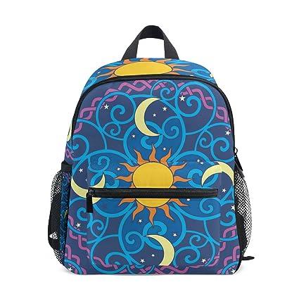 FAJRO Sun-Moon-Mandala-Vector-Clipart - Mochila Escolar para niñas