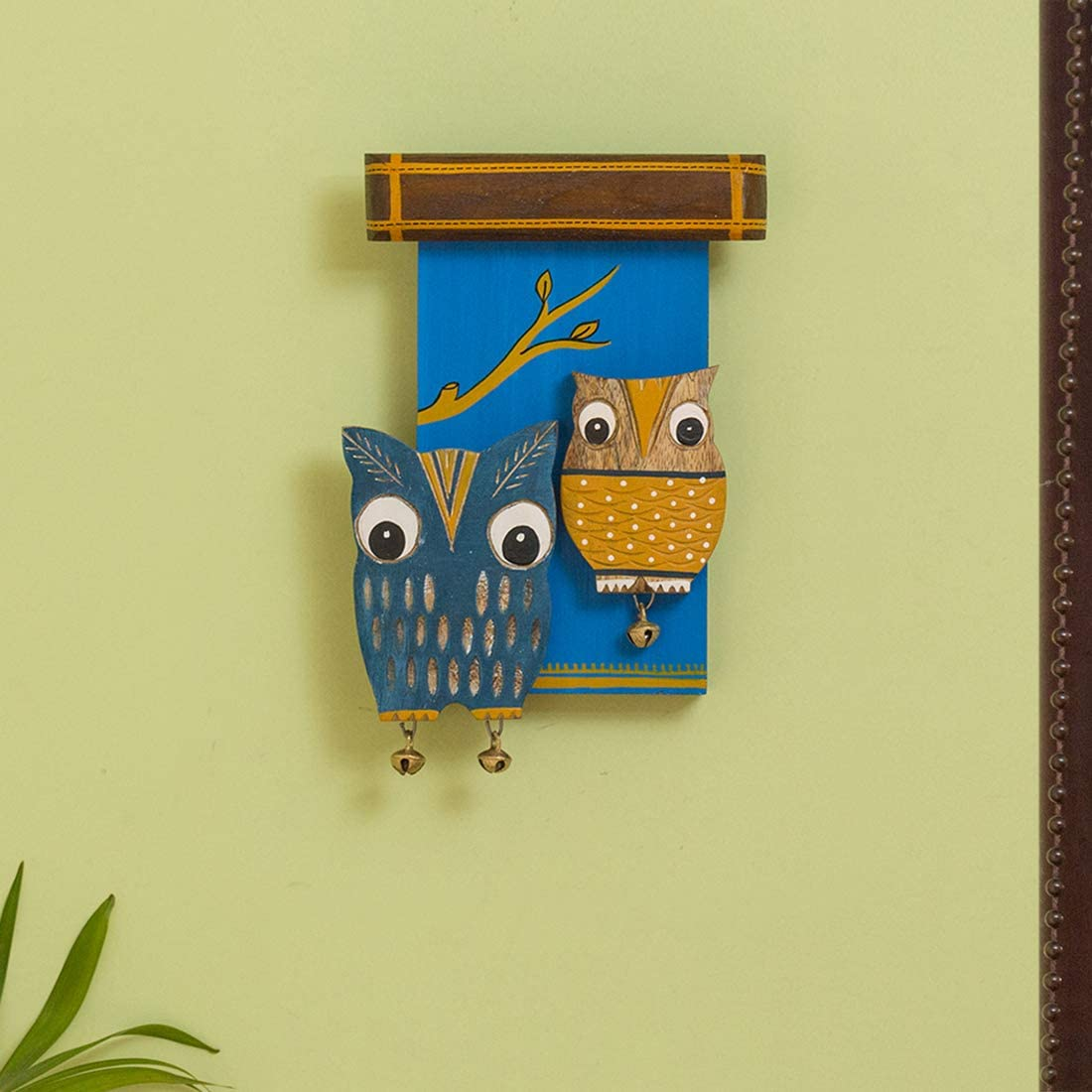 ExclusiveLane 'Owl Siblings' Wooden Wall Décor - Wall Hanging Décor for Living Room Bedroom Home Decoration Wall Decoration Items Wall Decore Home Décor