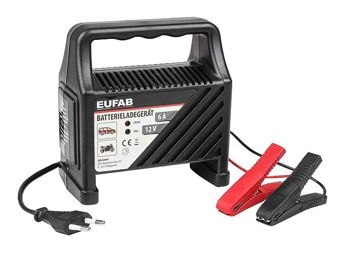 Eufab 16542 CBC 6 - Cargador para baterías (6 A, 12 V)