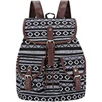 XAYTYKHBHDAU Thai Woven Vintage Bagpack Aztec Indian Women Backpack Bohemian Boho Drawstring Rucksack Hippie School Bags