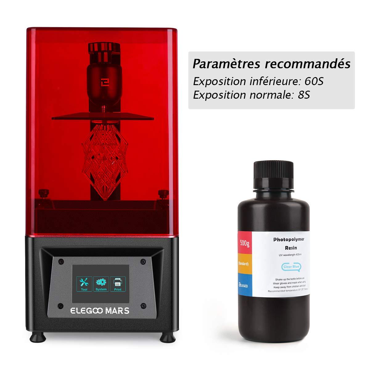 Elegoo - Pantalla LCD UV de 405 nm, resina rápida para LCD ...