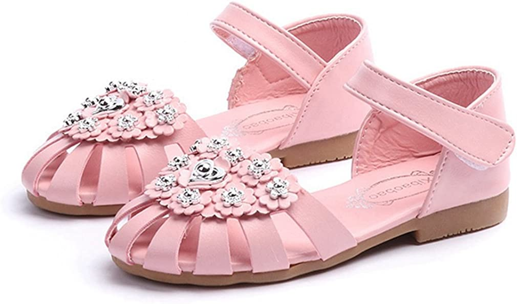 Toddler//Little Kid CYBLING Girls Fisherman Sandals Summer Closed-Toe Outdoor Princess Flat Shoes