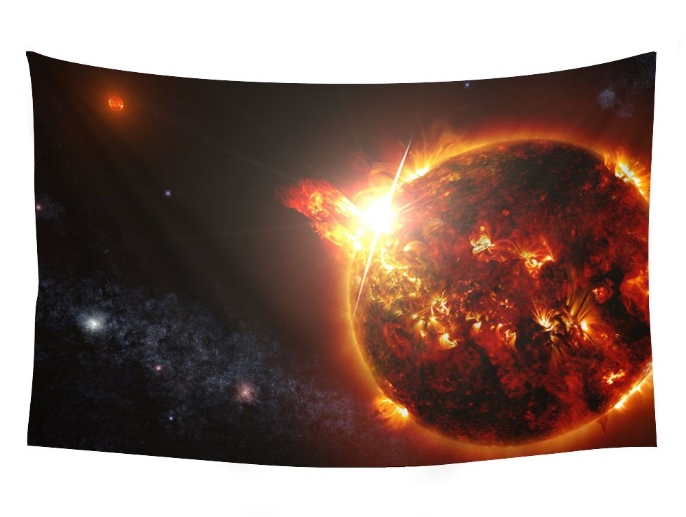 solar flare storm sun space star fire psychedelic - Wall Tapestry Art For Home Decor Wall Hanging Tapestry 60x40 Inches