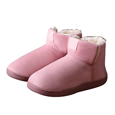 17983fcf4c5d Kebver Women s Fashion Outdoor Winter Washable Cotton House Slippers