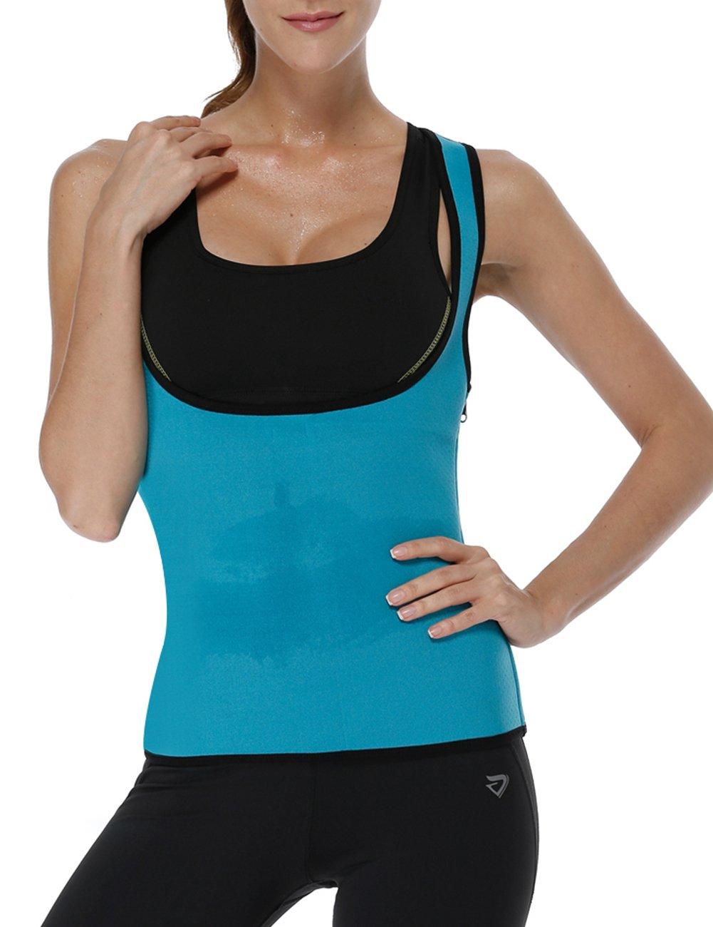 LaLaAreal Faja Reductora Adelgazante Abdominal Mujer Camiseta Sauna Chaleco Neopreno Comprecion para Fitness Postparto: Amazon.es: Deportes y aire libre