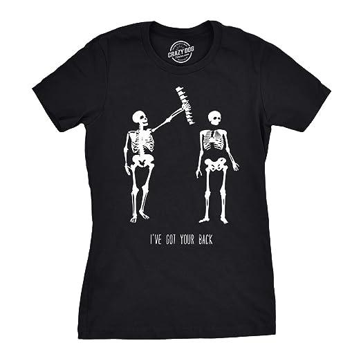 8e688348b Crazy Dog T-Shirts Womens Got Your Back Funny Skeleton Best Friend  Halloween T Shirt