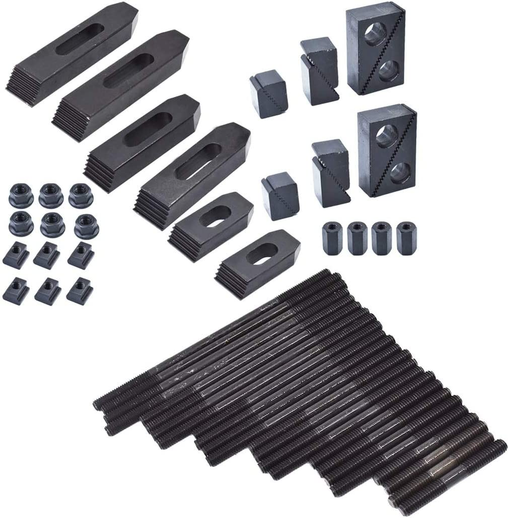 "58 Pc Pro-Series 7//16/"" T-Slot Clamping Kit For Bridgeport Mill Set Up Set 3//8-16"
