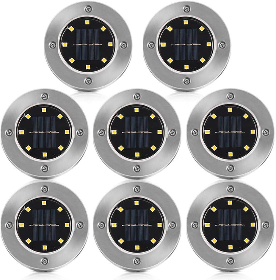 Solar Bodenleuchte Garten Grid Design Shell Warmwei/ß Solar Bodenleuchten Aussen Wasserdichte 4er Pack Solarleuchten Garten f/ür Pathway Garden Yard Landscape Patio Lawn