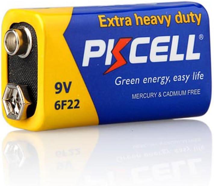 24 9V 6F22 Mn1604 Super Heavy Duty Carbon-Zinc Battery for Smoke Detectors Count Pcs
