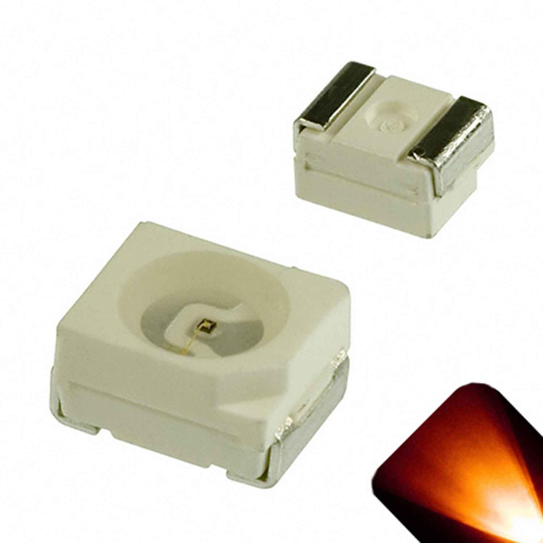 PLCC-2 SMD Amber/Orange - Ultra Bright 1210/3528 LED (Pack of 50)