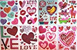 Valentines Day Window Clings, 8 Sheets