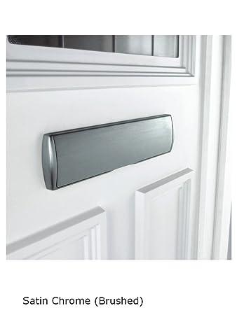 Mila Prostyle Composite Upvc Door Letterbox Heavy Duty Satin Chrome