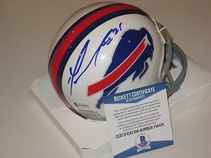 80dfa98c626 Lesean Mccoy Autographed Signed Buffalo Bills Mini-Helmet - Beckett  Authentic