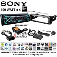 Volunteer Audio Sony MEX-XB100BT Double Din Radio PAC Motorcycle Install Kit with Bluetooth, CD Player, USB/AUX Fits 1998-2013 Harley Davidson Electra, Road, Street, Tour Glide with XM Module