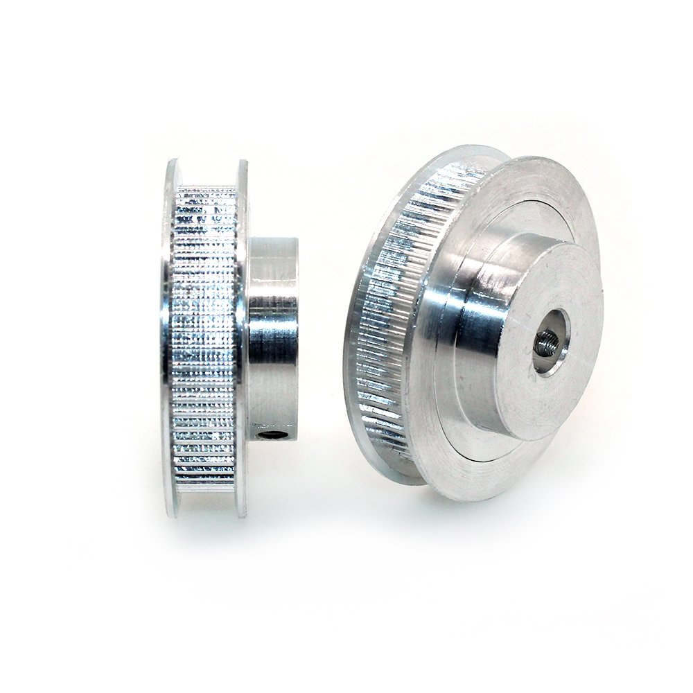 Pack of 2pcs BIQU GT2 Synchronous Wheel 60 Teeth 8mm Bore Aluminum Timing Pulley for 3D Printer 6mm Width Belt