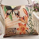 ZZYHOME-American Creative Sofa Cushion Throw Pillow Home Decor office and car Decorative Cushion ,5555cm( Hood + pillow),Z Butterfly Dance mood