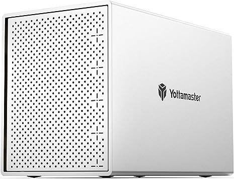 Yottamaster [5X16TB] Aluminio 5 Bahías Caja Disco Duro para 2.5 ...
