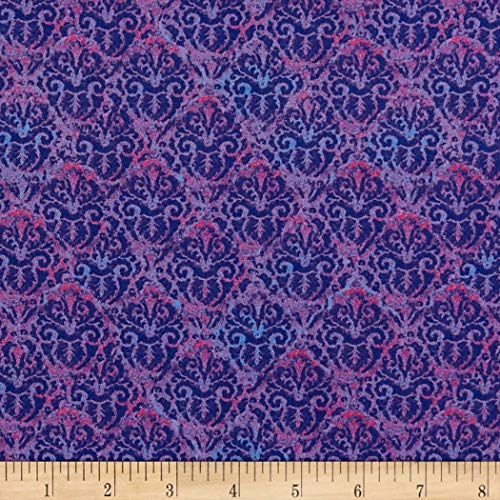 Wilmington Prints Blossom and Bloom Nouveau Damask Fabric, Purple, Fabric By The Yard