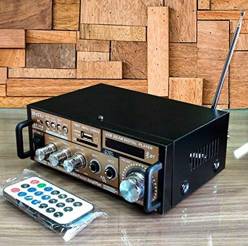 Mini Amplificador com Bluetooth Karaokê Stereo Áudio Mp3/USB/SD/FM Digital Player