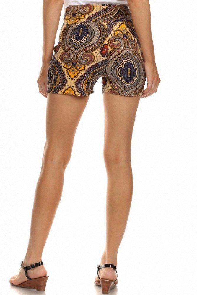 Sassy Apparel Women's Melete Print Stylish Harem Style Summer Shorts (Large/X-Large, Multi) by SASSY APPAREL (Image #3)