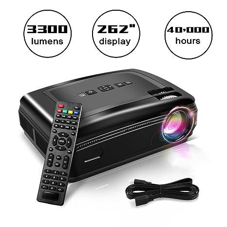Proyector Full HD, Proyectores LCD de 3300 Lúmenes con altaveces ...