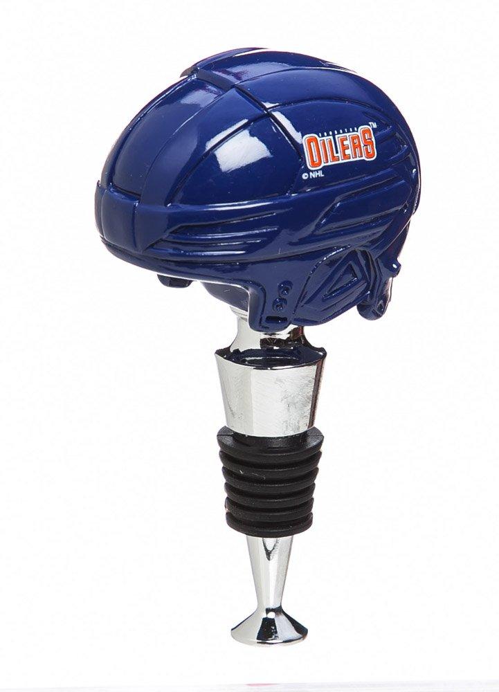 Edmonton Oilers Logo Helmet Wine Bottle Stopper