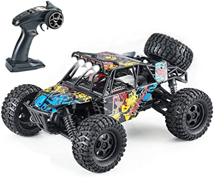 Fcoreey 1:14 Scale 48km//H High-Speed Car,2.4 GHz All Terrain SUV,Included 2 Pairs Rechargeable Batteries,Toy Gifts for Boys and Adults RC Trucks for Adults 4x4 Off-Road Remote Control Car