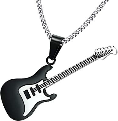KY Jewelry Collar de Guitarra Ajustable para Hombre, Cadena de ...