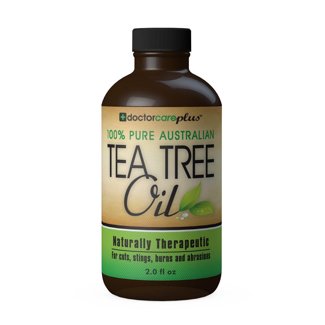 Tea Tree Oil - 100% Pure ATTIA Certified, Essential Oil from Australia (2 oz) - Superior Grade Especially For: Skin Tags, Acne, Fungus, Odor, Lice, Shampoo, Antiseptic, Eczema, Cuts, Burns and
