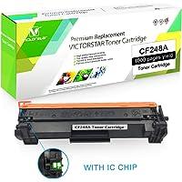 VICTORSTAR Cartucho de Tóner Compatible HP CF248A (48A) Negro con Chip para Uso en impresoras Laserjet Pro M15a M15w M16a M16w, Laserjet Pro MFP M28a M28w M29a M29w