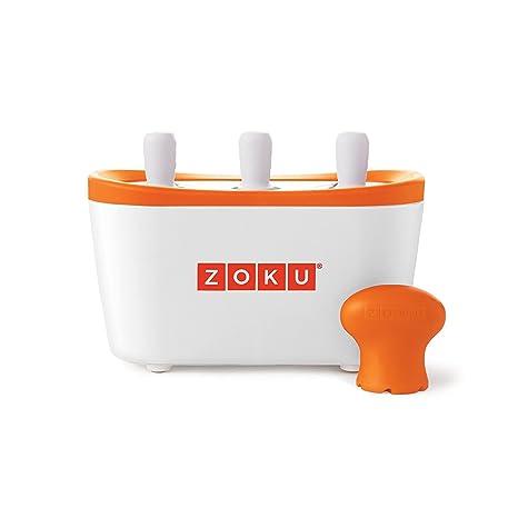 Zoku ZK101 molde para helados - moldes para helados (Naranja, Color blanco)