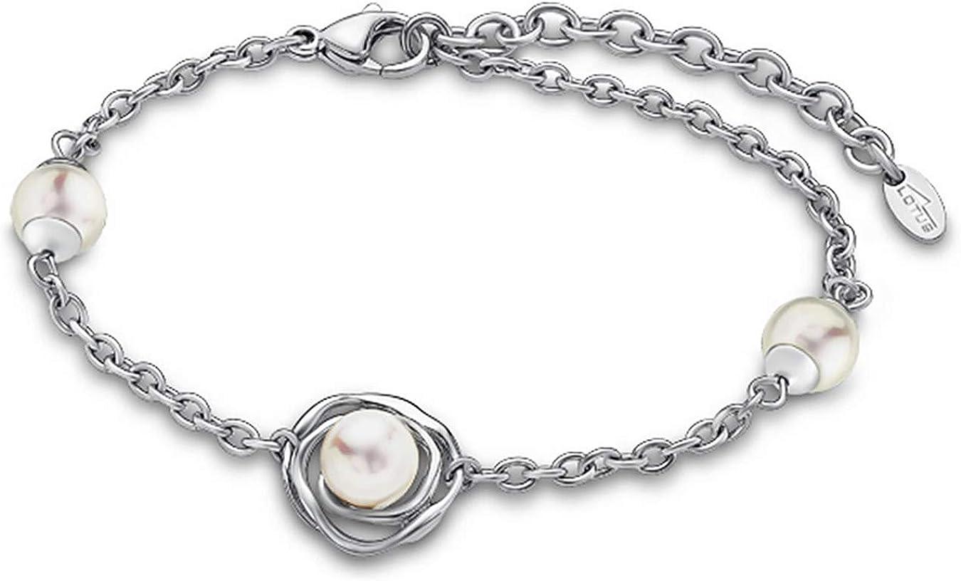 Pulsera acero y perla Lotus Style LS1855-2/1