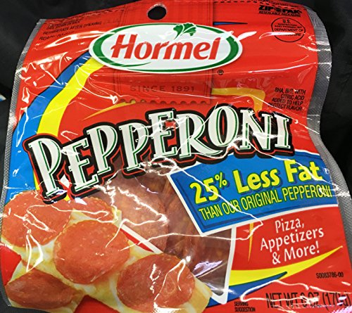(Hormel 25% Less Fat Pepperoni Slices 6 oz. Pack of 2)