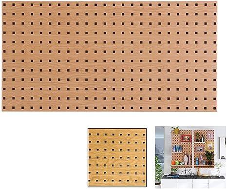 Panel Metálico Perforado, Panel Para Herramientas De Metal,Sistema De Montaje En Pared De Almacenamiento De Garaje De Bricolaje,Color De Grano De Madera (900 × 450 Mm),A: Amazon.es: Bricolaje y herramientas