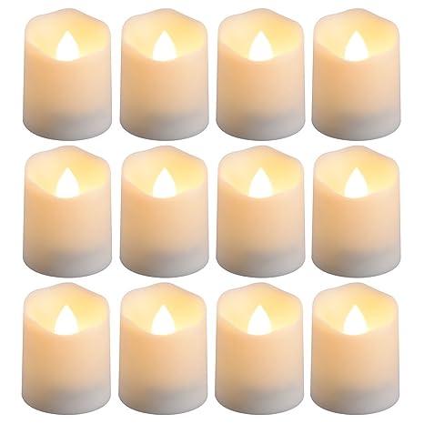 Amazon.com: PChero funciona con pilas temporizador velas, 12 ...