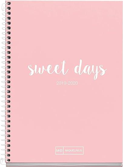 Miquelrius agenda escolar 2019 2020 semana vista lettering rosa ...