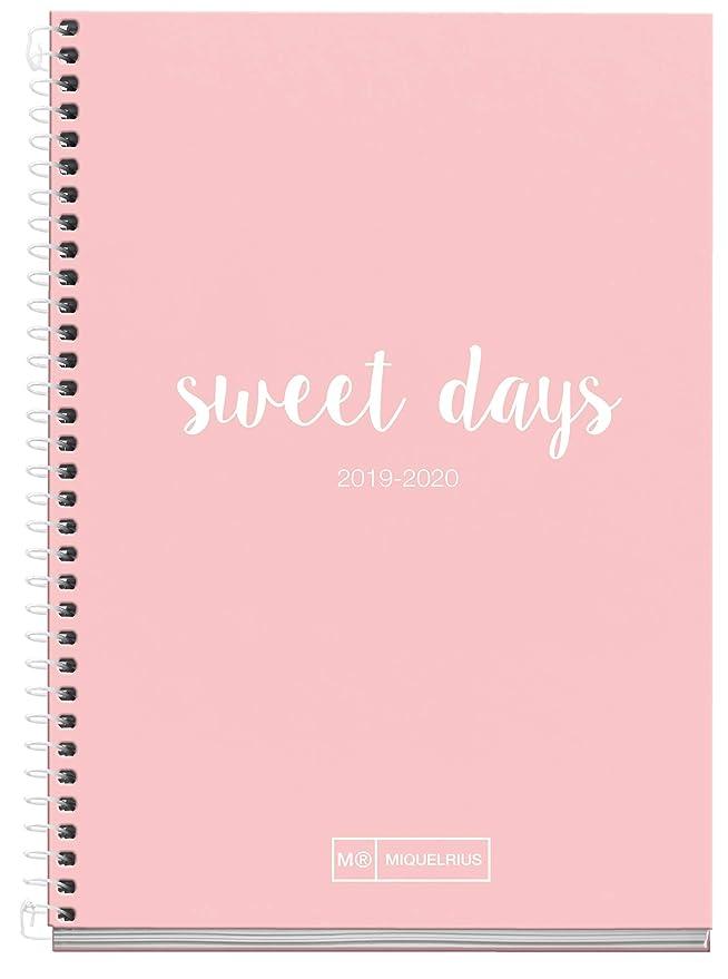 Miquelrius agenda escolar 2019 2020 semana vista lettering rosa español 117x174 mm