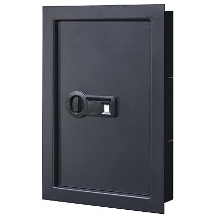 Stack-On pws-15522-b pared caja fuerte con cerradura biométrica