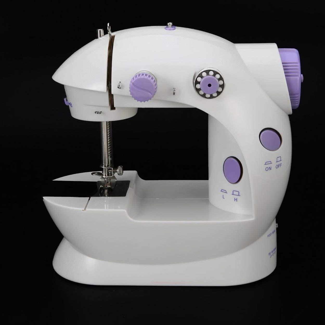 elektrische Mini N/ähmaschine Haushalt Desktop mit LED Durable Vorw/ärts R/ückw/ärts N/ähen N/ähmaschine