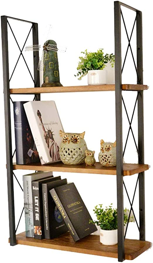 Free Standing Industrial Style Bookcase with Metal Frame and Dividers CASART Study and Bedroom 5-Tiers Multifunctional Storage Shelving Unit for Living Room