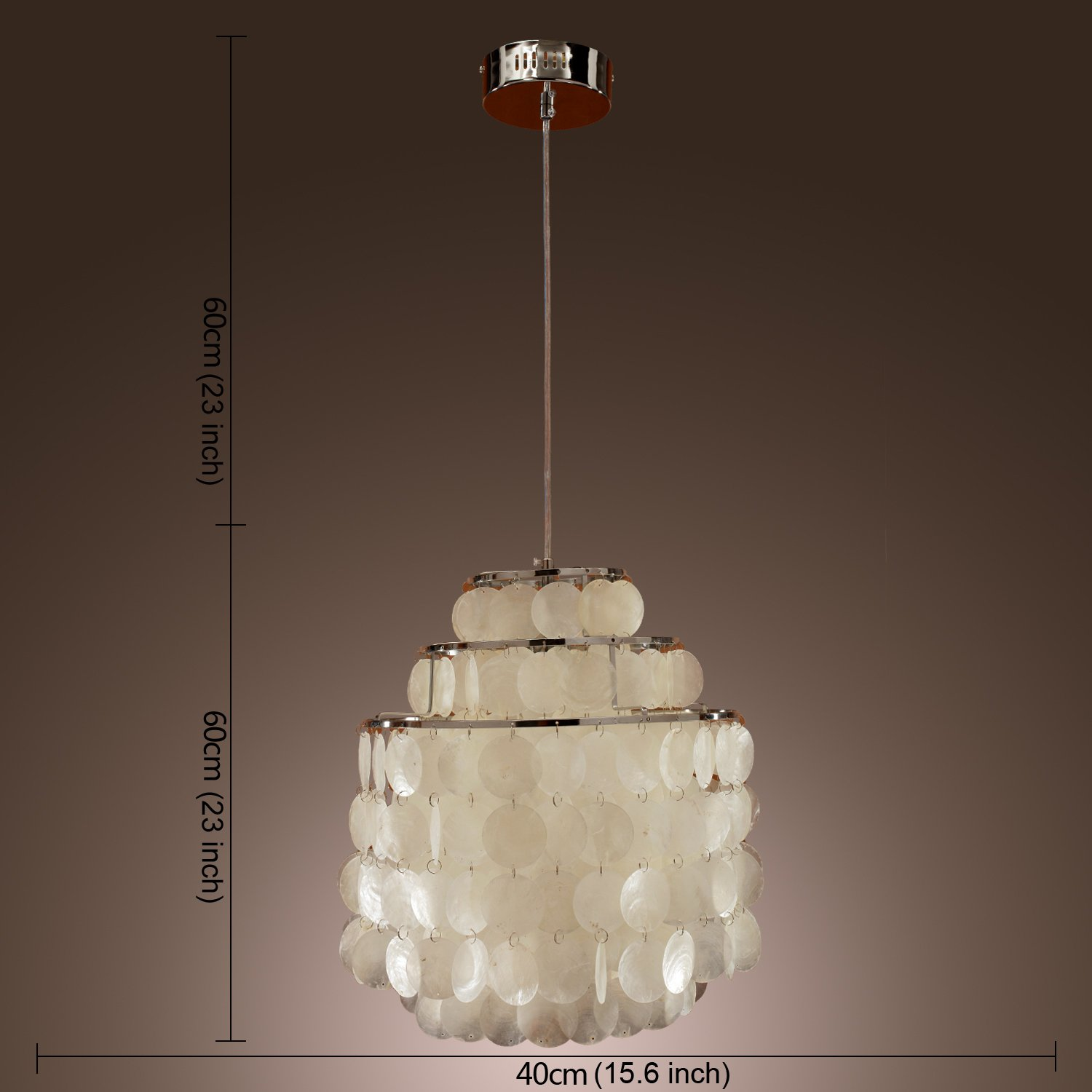 dangling nickel with white and shade drum light pendant decorators polished collection lights p chandelier beads home glass linen