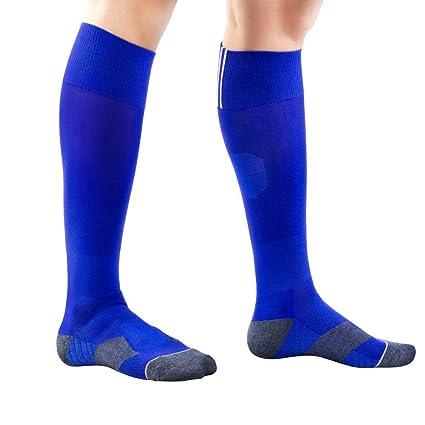 MIAOMIAOWANG Parte Inferior de Toalla Transpirable Calcetines de fútbol Niños y niñas Deportes Adultos Calcetines de