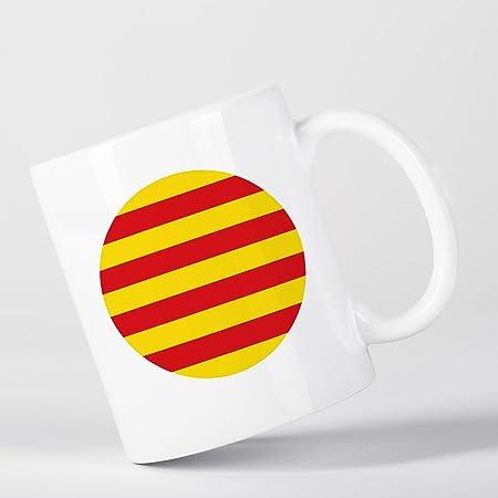 Catalunya Catalan Flag Bandera Català Spanish Española Catalán Taza: Amazon.es: Hogar