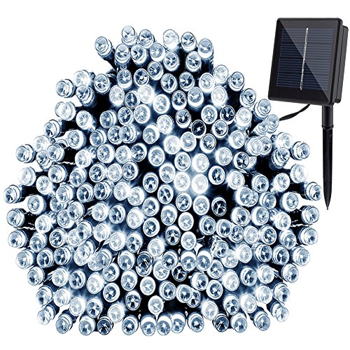 GDEALER Solar String Lights 72ft 200 LED 2 Modes White Solar Powered Waterproof Starry Fairy Outdoor String Lights Christmas Decoration Lights for Garden Path, Party, Bedroom Decoration Cool White